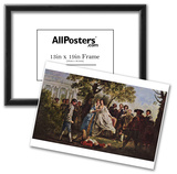 Francis Hayman - A Scene from Shakespeare's As You Like It, Art Poster Print Photo