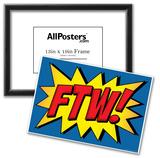 FTW! Comic Pop-Art Art Print Poster Poster