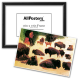 Albert Bierstadt Study of Buffaloes Art Print Poster Photo
