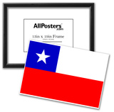 Chile National Flag Poster Print Photo
