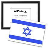 Israel National Flag Poster Print Prints