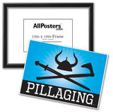 Pillaging Blue Poster Print Photo