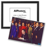 President George H.W. Bush (Signing Martin Luther King Holiday Proclamation) Art Poster Print Posters