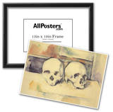 Paul Cezanne Still Life with Two Skulls Art Print Poster Poster