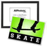 Skateboarding Green Sports Poster Print Posters