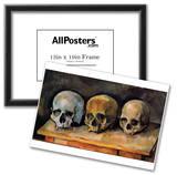 Paul Cezanne (Still Life, Three skulls) Art Poster Print Photo