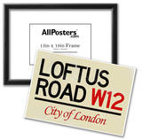Loftus Road W12 City of London Sign Poster Prints