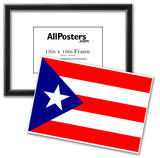 Puerto Rico National Flag Poster Print Print