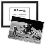 Moon Landing Salute Black White Archival Photo Poster Print Photo