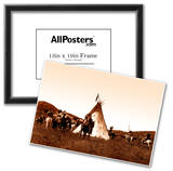 Indian Sioux Camp Native American Photo Print Poster Prints