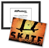 Skateboarding Orange Sports Poster Print Prints