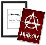 Anarchy Symbol Resistance Poster Prints