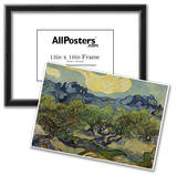 Vincent Van Gogh (Landscape with olive trees) Art Poster Print Prints
