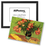 Vincent Van Gogh Still Life Vase with Oleanders and Books Art Print Poster Photo