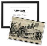 A Little Game of Bagatelle Old Abe the Rail Splitter Political Cartoon Art Print Poster Poster