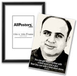 Al Capone Kind Word and A Gun Quote Poster Prints