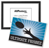 Ultimate Frisbee Blue Sports Poster Print Prints