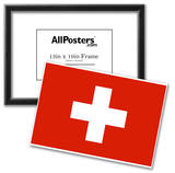 Switzerland National Flag Poster Print Poster