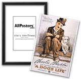A Dog's Life Movie Charlie Chaplin Poster Print Posters