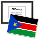 South Sudan Country National Flag Print Poster Posters