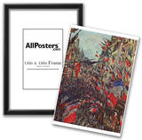 Claude Monet (Paris, Rue Saint-Denis, Celebration of National Day) Art Poster Print Prints
