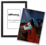 Black Jesus Christ Kneeling religious Print Poster Photo