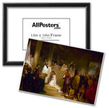 Baptism of Pocahontas Historic Art Print Poster Posters