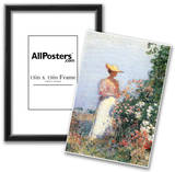 Childe Hassam Woman in Garden Art Print Poster Prints