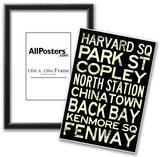 Boston MBTA Stations Vintage Subway RetroMetro Travel Poster Posters