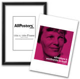 Amelia Earhart Adventure iNspire 2 Quote Poster Posters