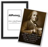 Benjamin Franklin Beer is Proof God Loves Us Art Print Poster Prints