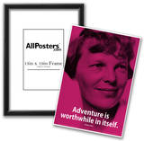 Amelia Earhart Adventure iNspire Quote Poster Prints