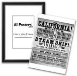Gold Rush Handbill (California Direct, 1849) Art Poster Print Prints
