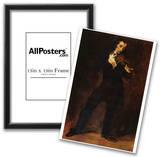 Eugene Ferdinand Victor Delacroix (Portrait of Paganini) Art Poster Print Posters