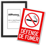 Defense De Fumer French No Smoking Sign Poster Poster