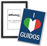 I Heart Italian Guidos Print Poster Print