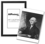 George Washington (Portrait, Black and White) Art Poster Print Photo