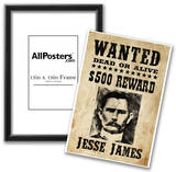 Jesse James Wanted Advertisement Print Poster Photo