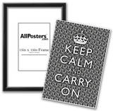 Keep Calm and Carry On Zebra Print Poster Prints