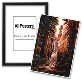 Indian Maiden Pray in Woods Art Print Poster Posters