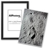 Moon Footprint (Buzz Aldrin Bootprint) Art Poster Print Posters