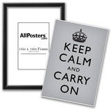 Keep Calm and Carry On (Motivational, Grey) Art Poster Print Prints