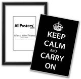 Keep Calm and Carry On (Motivational, Black) Art Poster Print Posters