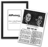 Julius and Ethel Rosenberg Case (Newspaper Article) Art Poster Print Posters