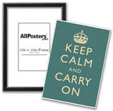 Keep Calm and Carry On Motivational Slate Art Print Poster Prints