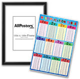 Multiplication Table Education Chart Poster Posters