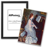 Pierre-Auguste Renoir (Woman at the piano) Art Poster Print Poster
