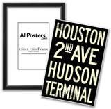 New York City Houston Hudson Vintage RetroMetro Subway Poster Posters