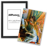 Pierre Auguste Renoir Girls at the Piano Art Print Poster Posters