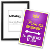Princess Parking Only Purple Sign Poster Print Prints